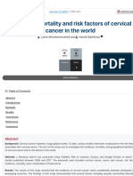 Incidence, mortality and risk factors of cervical cancer in the world   Biomedical Research and Ther