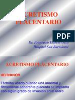 3- ACRETISMO PLACENTARIO