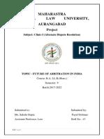 Arbitration - Future of Arbitration in India.docx