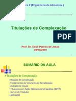 Complexação EDTA