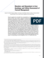 Coagulation disorder and hemostasis  in liver disease- Pathophysiology and critical Assessment of current  management