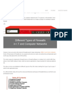 7 Types of Firewalls in I.T and Computer Networks Explained