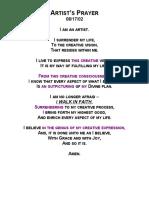 C4ASE - Artist Prayer 2