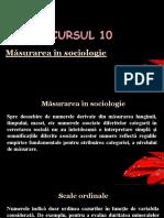 CURSUL 10 - Măsurarea în sociologie