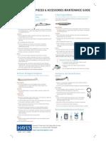 Surgical Handpiece Maintenance Poster