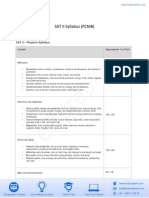 SAT II-PCMB Syllabus