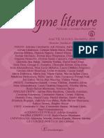 "Revista ""Sintagme Literare"" nr. 6 (41) decembrie 2019"