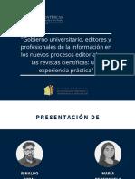 Gobierno universitario, editores y profesionales de la información en los nuevos procesos editoriales en las revistas científicas