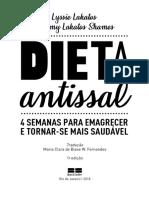 Saúde. Dieta Antissal
