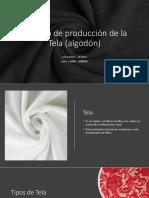 Proceso de producción de la Tela (algodón)