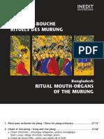 booklet INEDIT [1998 · W 260084] Bangladesh. Orgues-à-bouche rituels des Murung [Reissue 2001]