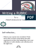 Writing a RUBRIC
