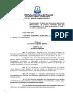 ESTATUTO DA GCM DE PALMAS