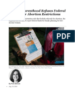 Planned Parenthood Refuses Federal Funds Over Abortion Restrictions.docx