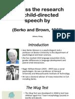 tuto w2 Child-directed Speech (Berko and Brown, 1960).pptx