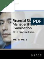 FRM 2010 Part 1 Practice Exam