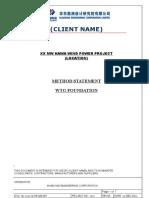 Method Statement forWTGFoundation
