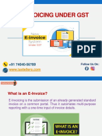 E-Invoicing Under GST PPT TheTaxTellers