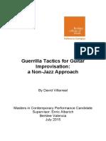 Guerrilla Tactics for Guitar Improvisation