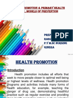 Health promotion, prevention model.ppt