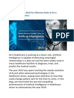 The Effective Role of AI in Healthcare Industry