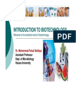 Lecture # 1 Introduction to Biotechnology