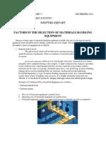 FACTORS IN THE SELECTION OF MATERIALS HANDLING EQUIPMENT.docx