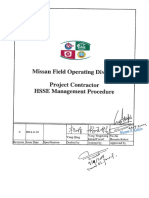 CMIT-000-FCD-00 08-000002-0 Project Contractor HSSE Management Procedure...