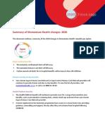 Momentum 2020 Summary of Changes