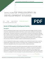 Doctor of Philosophy in Development Studies - De La Salle University