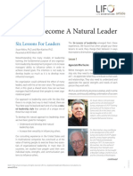 How to Become a Natural Leader