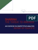 Shariah the Threat to America Team B2 Report