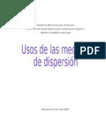 Uso Medidas de Dispersion