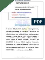 ESTUDOS DE TEOLOGIA