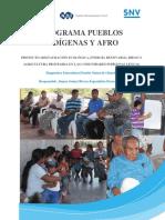 Diagnóstico Etnocultural Pueblo Nahua de Olancho