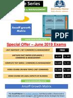 Ansoff Growth Matrix