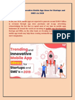 Trending and Innovative Mobile App Ideas for Startups and SME