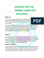 Engineering Ladies Day 2019 Proposal..
