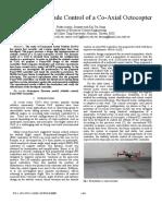 Fuzzy+PID Attitude Control of a Co-Axial Octocopter