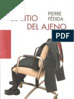El sitio del ajeno-Pierre Fédida
