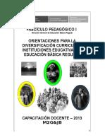 PROCESO DIVERSIFICACIÓN PLANIFICACIÓN CURRICULAR