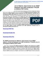 do-abap-processual-ao-objecto-auto-formar-se-em-abap-objecto-evoluir-juntamente-com-sap-collection-t-B00LLHWMQQ