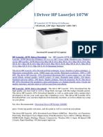 Download Driver HP LaserJet 107W