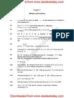 CBSE Class 12 Mathematics HOTs All Chapters