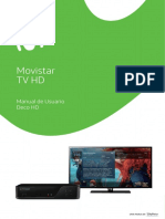 Manual de Usuario Deco DTH HD
