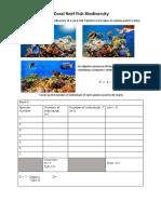 Coral Reef Fish Worksheet