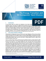 The Energy Transition and Oil Companies Hard Choices