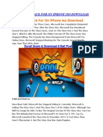 8 Ball Pool Hack for on iPhone Iso Download