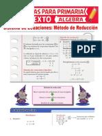 Método-de-Reducción-de-Sistemas-de-Ecuaciones-para-Sexto-de-Primaria