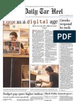 The Daily Tar Heel for November 29, 2010